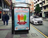 Ice Cream Poster Template Vol.5