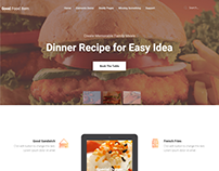 Good Food Item Restaurant Landing Page