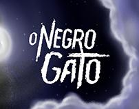 """Ilustração e capa de """"O Negro Gato"""""""