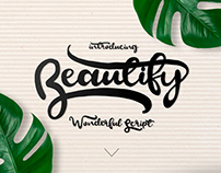 BEAUTIFY - FREE SCRIPT FONT