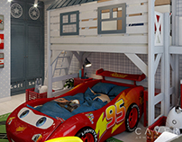 "HK kids room ""Lightning McQueen"""
