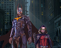 Batman Zombie and Zombie Robin