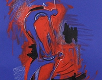 Blue and Red Diptych -2014