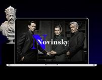 Shopping and business center Novinsky - Web site