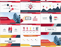 2 in 1+ Best Red business report PowerPoint template