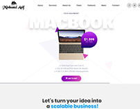 Macbook Landing Website By Minhazul Asif