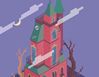 👻 Interactive Haunted Mansion | SVG Animation