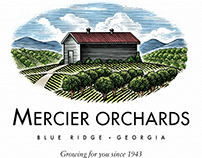 Mercier Orchards Logomark Illustrated by Steven Noble
