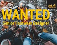 We are hiring: Senior Footwear Designer