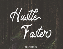 HUSTLE FASTER - FREE SCRIPT FONT