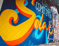 Lettering mural | El Guayabo Café