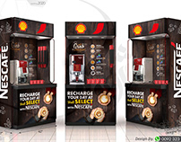 Nescafe Coffee Kiosk for Shell Filling Stations Shops