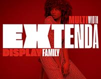 Extenda Free Font Typeface family