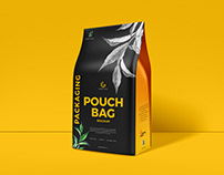 Free Packaging Pouch Bag Mockup