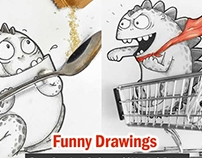 15 Funny drawings by Drogo of Manik and Ratan