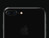 iPhone 7 Plus Jet Black Mockup