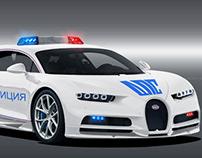 Bugatti Chiron Russian Police