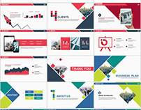 2in1+ Simple business plan PowerPoint Template