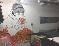 Candies junkie mural