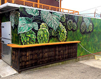 Hops Mural for Wicked Weed Brewing