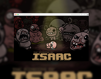 The Binding of Isaac landing page
