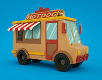 Hotdog - truck.