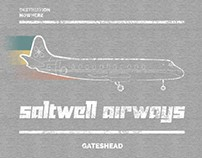 Saltwell Airways T-Shirt Design