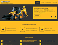 Responsive site for a equipment rental company
