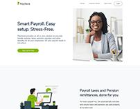 Paycheck Landing Page