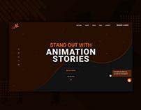 Landing Page UI/UX Design for Animation Studio Website