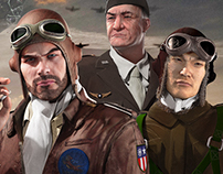 Flying Tigers: Shadows Over China - Title Art (3D)