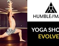 Humble Magic Men's yoga shorts logo and flyers
