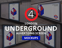 London Underground Ad Screen Mockups