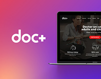 doc+ website design
