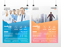 Medicine and Business - Free PSD Flyer Template