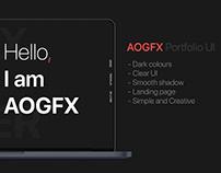 AOGFX Portfolio - Portfolio Website UI