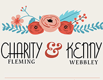 Wedding Invitation Suite - Charity + Kenny