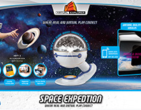 Space Expedition Packaging for an Uncle Milton toy.
