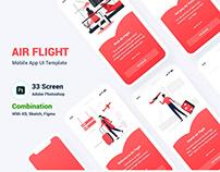Air Flight Booking Mobile App UI Template