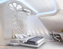 Parametric interior bedroom