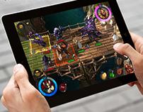 Разработка интерфейса  для игры на планшете
