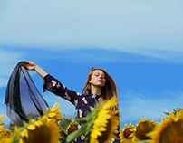 Photography- Sunflower Fields Fashion Photoshoot