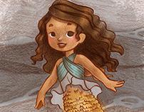 Little Mermaid Sketchy Style