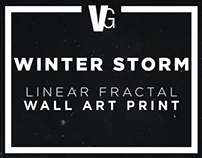 WINTER STORM - Linear Fractal Print