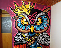 OWL Illustration Graffiti