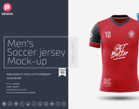 Men's Soccer Jersey Mockup V3