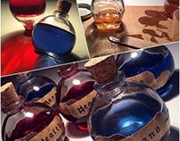 Mana / Health Potion Decor Bottles