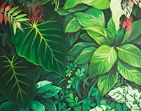 "Acrylic paintings ""Flora"""