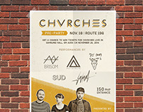 CHVRCHES Live in Mnl Pre-Party | Poster