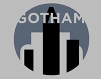 Typographic Poster: Gotham